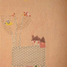 The Village | Patch work with cloth | 21.5 x 31.5 cm | $ 450