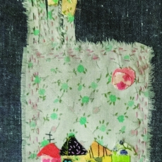 My Dreams | Patch work with cloth | 10.5 x 24 cm | $ 200