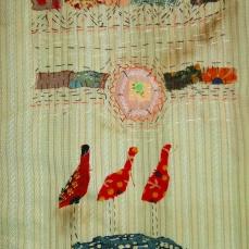 Iranian Garden | Patch work with cloth | 15 x 21 cm | $ 300