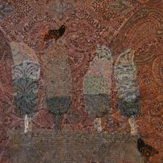 Iranian Garden | Patch work with cloth | 25 x 25 cm | $ 350